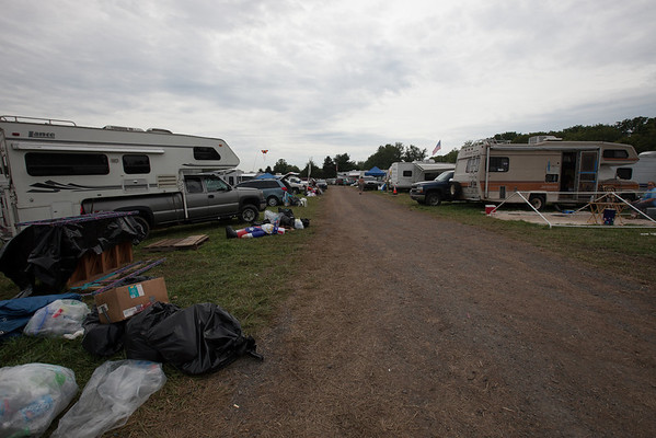 Heavy camping area the morning after. (Howard Pitkow/for Newsworks)