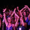Crowd reaction to Little Feet at the Philadelphia Folk Festival (Howard Pitkow/for Newsworks)
