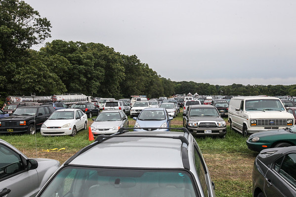 A view of a camping parking lot which was completely full.  (Howard Pitkow/for Newsworks)