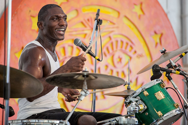 A Mississippi Blues project concert hosted by WXPN included Cedric Burnside Project. (Howard Pitkow/for Newsworks)