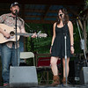 Local artists Chris Kasper and Kiley Ryan performing on the camp stage. (Howard Pitkow/for Newsworks)