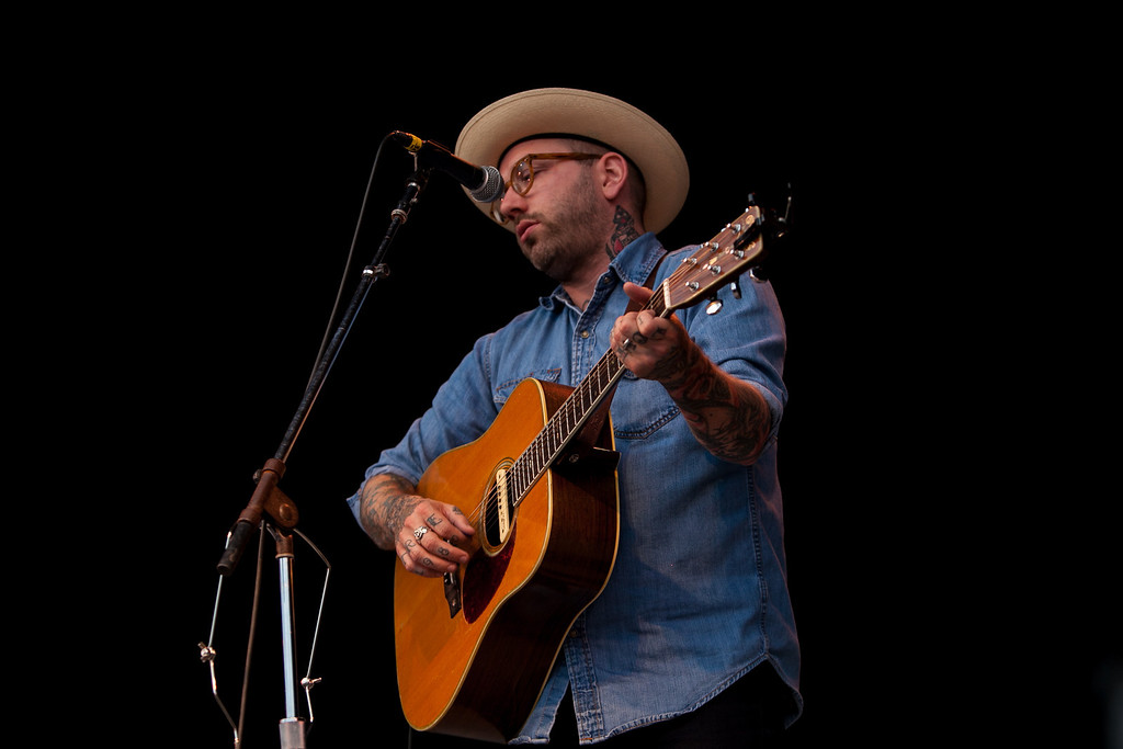 City and Colour performing on the main stage Sunday evening. (Howard Pitkow/for Newsworks)