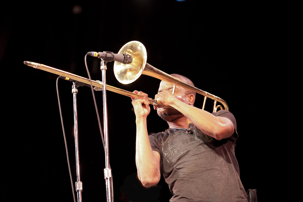 "Sunday evenings headliner Troy ""Trombone Shorty"" Andrews. (Howard Pitkow/for Newsworks)"
