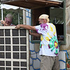 Groundz workers putting a finishing touch on volunteer headquarters. (Howard Pitkow/for Newsworks)