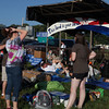 The Folk Festival campground entrance on Thursday morning.  (Howard Pitkow/for Newsworks)
