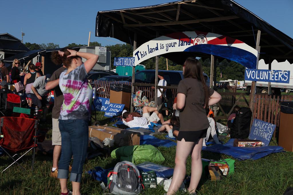 The Folk Festival campground entrance on Thursday morning.  (Howard Pitkow/for Newsworks)