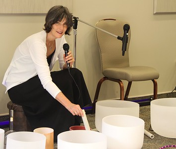Angelic Astrologer Jan Carter, Sings Angel Songs and Plays the Crystal Singing Bowls with Keth Luke at The PHCC Peace Week Opening ceremonies, Pasco County, Tampa Bay area FL.