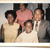 Cora with her Father, Clarence Hicks, his wife Bee, Cora's Step-mother & Aleta in July 1969.