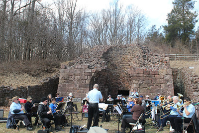 Exeter Community Band performs as part of Berks Jazz Fest at Hopewell Furnace on April 5