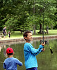 Spencer Alderson, 8, gets ready to cast while fishing at Kohler Park during Horsham Day June 6, 2015.<br /> Bob Raines--Montgomery Media