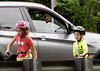 Children heading to Deep Meadow Park from Kohler Park draw the attention of of a little dog in a stopped auto as walk their bikes along Horsham Rd. June 6, 2015.<br /> Bob Raines--Montgomery Media