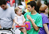 Matt Boggs walks through the Horsham Day booths carrying his niece, Charlott McAfee, <br /> June 6, 2015.<br /> Bob Raines--Montgomery Media
