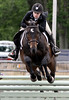 Casey Menna rides Reigning Wonder in National Hunter Derby  at the June Fete Horse Show Saturday, June 6, 2015.<br /> Bob Raines--Montgomery Media