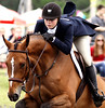 Darian Smith rides Aymar De La Rose in the National Hunter Derby at the June Fete Horse Show Saturday, June 6, 2015.<br /> Bob Raines--Montgomery Media
