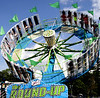 Centrifugal force keeps riders pinned to the sides of the Round-Up at the June Fete Village Festival Saturday, June 6, 2015,<br /> Bob Raines--Montgomery Media