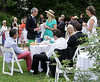 Moonlight and Roses Gala guests mingle near the Rose Garden of the Morris Arboretum June 5, 2015.<br /> Bob Raines--Montgomery Media