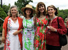 Enjoying the Morris Arboretum Moonlight and Roses Gala are, from left, Wendy Foulke, Christine Bamberger, Jenny Rose Carey and Patty Wurts June 5, 2015.<br /> Bob Raines--Montgomery Media