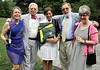 Natalie and Ralph Hirshorn, left, co-chairs of the Morris Arboretum Moonlight and Roses Gala, pose with Susan Crane, arboretum marketing director,  Bob Gutowski, public programs director and Madeline Gutowski.<br /> Bob Raines--Montgomery Media