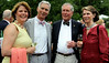 Enjoying the Morris Arboretum Moonlight and Roses Gala are, from left, Sandy and George Connelly and Binky and Patty Wurts June 5, 2015.<br /> Bob Raines--Montgomery Media