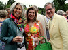 Lou Gatti, left, shares a laugh with Debbie and Andy Webster at the Morris Arboretum Moonlight and Roses Gala June 5, 2015.<br /> Bob Raines--Montgomery Media
