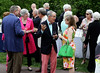 Guests mingle at the Moonlight and Roses Gala at Morris Arboretum June 5, 2015.<br /> Bob Raines--Montgomery Media