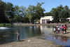 Adults and children fish at nearby Hillcrest Pond during Springfield Township Community Day at Cisco Park Sept. 7.