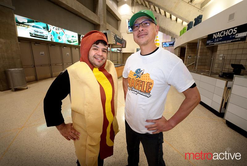 Manny Santillana (L) and Mark Lim both of San Jose