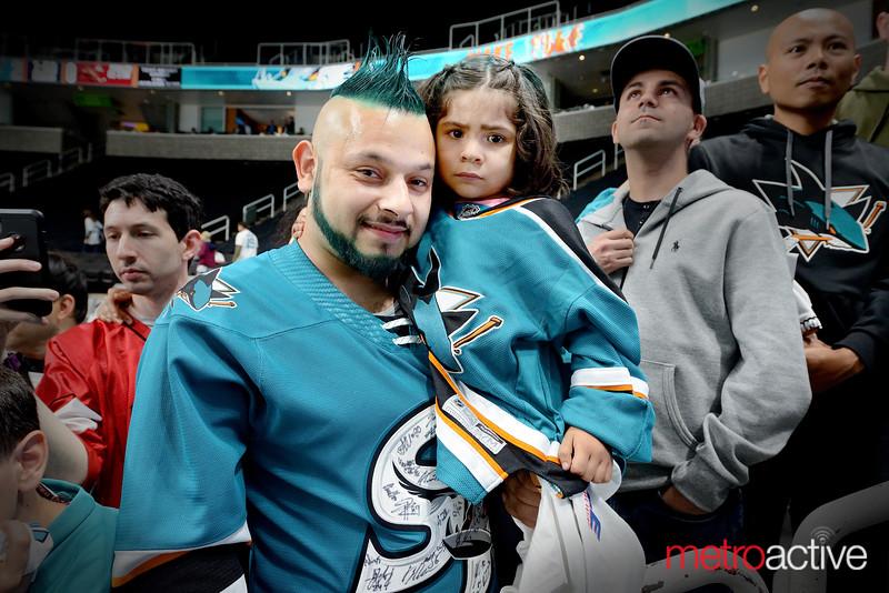 Leonard Simmons and his daughter Noella of San Jose