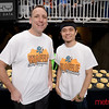 Joey Chestnut (L) and Matt Stonie - Waffle Eating Championship