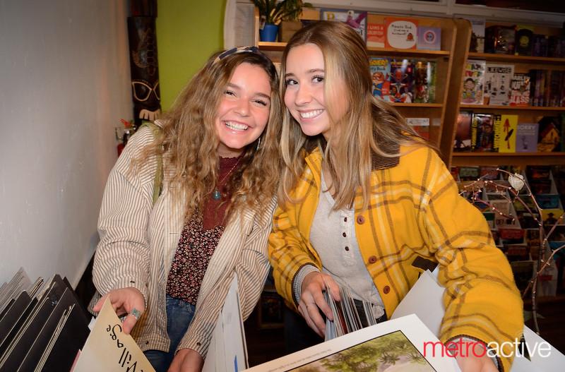 Grace Benham and Rachel Reen (both) of San Jose - Art Boutiki Music Hall attending Odd Numbers show