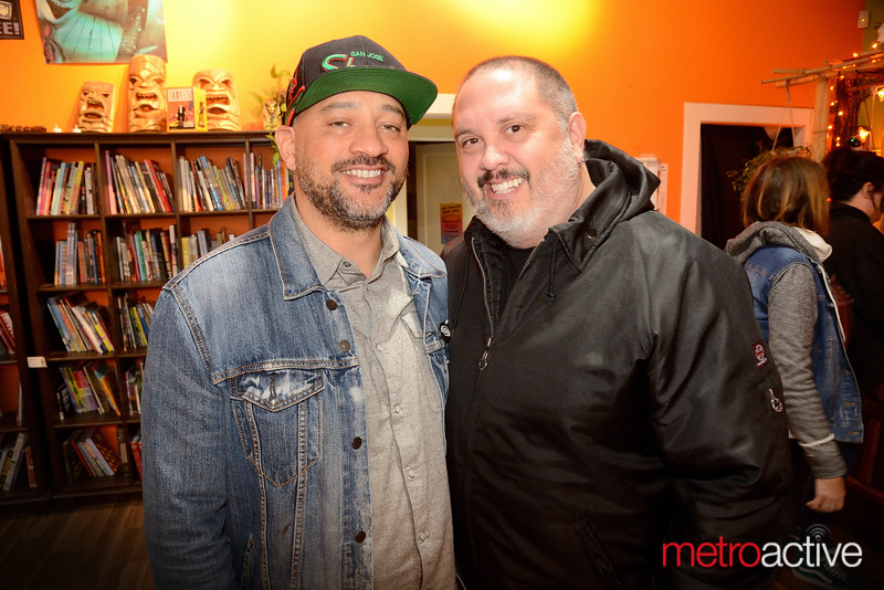 Eteka Huckaby and Bryan Caughey  (both) of San Jose - Art Boutiki Music Hall attending Odd Numbers show