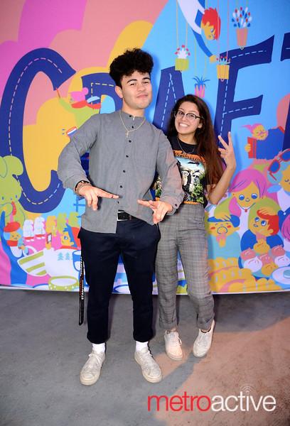 (L) Misa Rodriguez and Shifa Ahmad both of Santa Clara chill at the 2019 San Jose Craft Holiday Fair