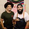 (L) Ricardo Camarena and Ruben Villa both of San Jose at the 2019 San Jose Craft Holiday Fair