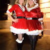 (L) Theresa Lawed and Maryann Frank both of San Jose  - Santa Con 2019 outside the Spearmint Rhino