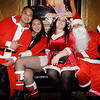 (LtoR) Christian Abar, Diana Hong, Jessie Peacock and Michael Dinh - Santa Con 2019 inside the Spearmint Rhino