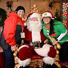 Santa Claus with his Volunteers at Christmas in the Park - Downtown San Jose