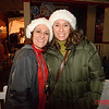 (L) Camiele Stephens of San Jose an Lucy Bartha of Santa Clara enjoy Christmas in the Park - Downtown San Jose