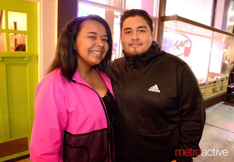 Samantha Hawkins and Jose Arango both of San Jose shop in Willow Glen