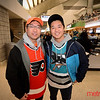 Jack (L) and Ryan Chu of Cupertino in the Shark Tank for Flyers vs. Sharks