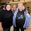 (LtoR) Illana, Sam and Laurie Friedman of Palo Alto in the Shark Tank for Flyers vs. Sharks