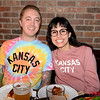 Kevin and Naomi Champ of San Jose at 4th Street Pizza for the Super Bowl