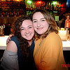 Cassandra Lewis (L) of Los Gatos and Madelyn Weber of Campbell at the Cedar Room in the Pruneyard for an Oscar's Viewing Party