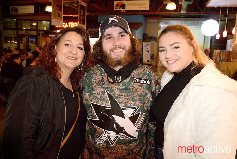 (LtoR) Dee Gilletti, Tyler McGraw and Bella Trapani at San Pedro Market Square