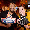 Geva Whyte (L) of San Jose and Sarah Crane of Los Gatos at the Cedar Room in the Pruneyard for an Oscar's Viewing Party