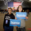 2020 Presidential Candidate: Bernie Sanders Rally in San Jose - McEnry Convention Center with Stephanie Geb (L) and Sarai Rojas