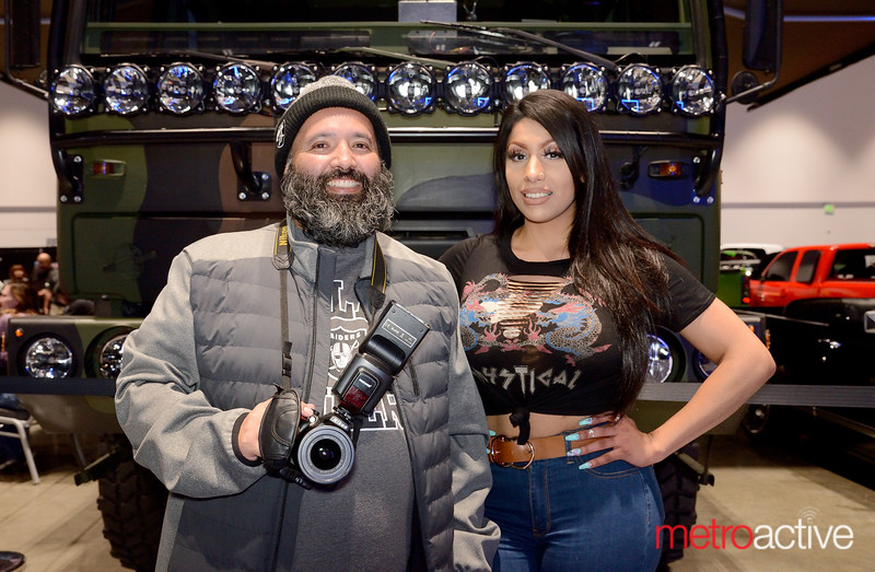 Silicon Valley Auto Show - Jose Gamboa and Angie Christiano of San Jose