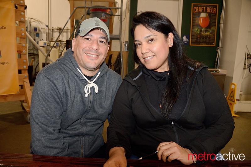 Strike Brewing Co. Trivia Night - Manuel Macias and Lisa Gallego of San Jose