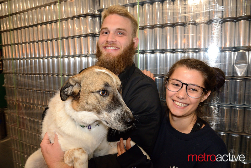 Strike Brewing Co. Trivia Night -  Chris and Amanda Sigmund of Campbell with Yuna the Dog