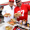 NFC Championship - Levi Stadium - Forrest Yee (L) and Scott Hackbartha