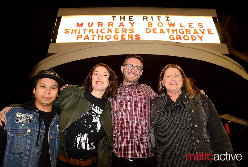 A TRIBUTE TO MURRAY BOWLES - 17 January 2020 (The Ritz) Murray's Family (LtoR) Ryan Garcia, Jennifer Starr (niece) Keith Starr (nephew) and Kathy Starr (sister)